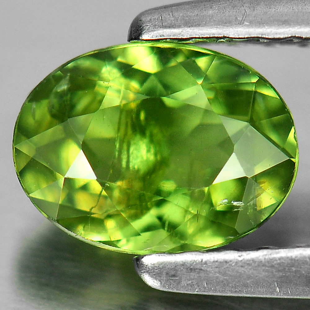 0.76 ct. Beautiful Oval Natural Green Apatite Unheated