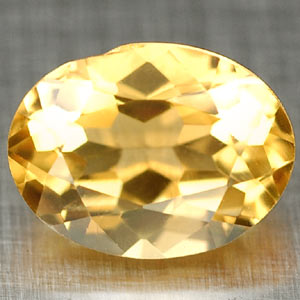 1.36 Ct. Clean Oval Unheated Yellow Citrine Gem Brazil