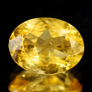 1.17 Ct. Oval Natural Yellow Citrine Unheated Brazil
