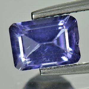 1.01 Ct. Octagon Natural Violet Blue Iolite Unheated