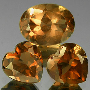 Unheated 2.60 Ct. 3 Pcs. Natural Smoky Brown Quartz Gem