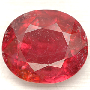 8.79 CT. HUGE!! GEM OVAL NATURAL RED RUBELLITE UNHEATED