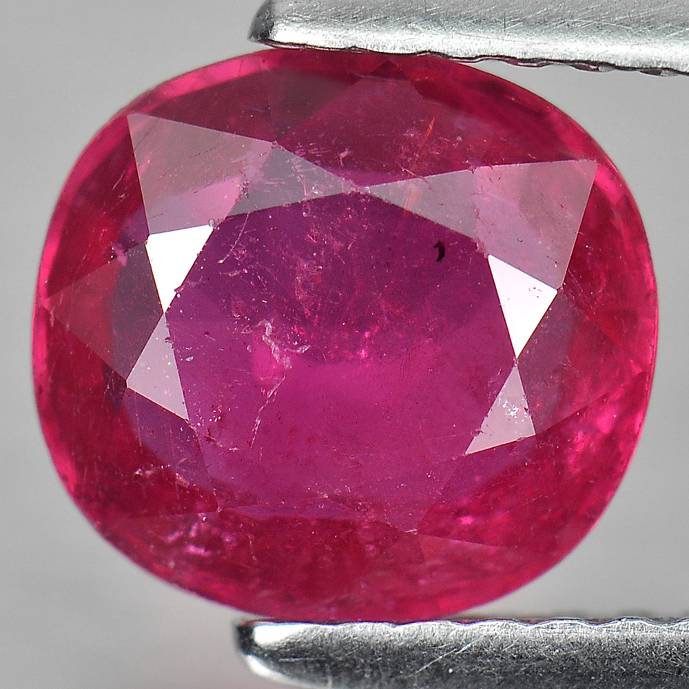 1.94 Ct. Oval Natural Gem Purplish Pink Ruby Mozambique