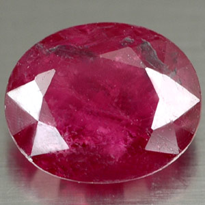 1.62 ct. Oval Natural Red RUBY Madagascar