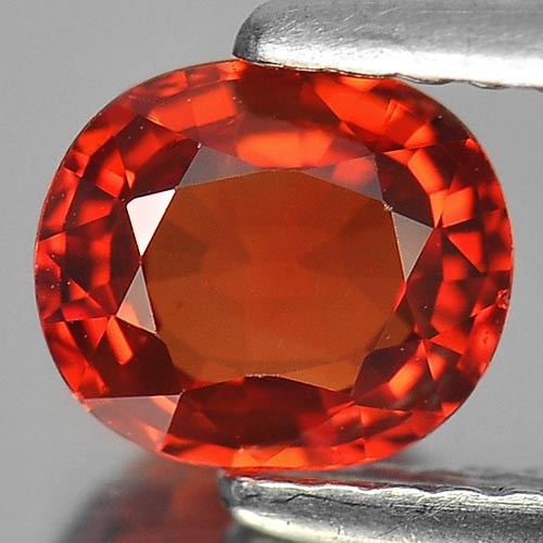 1.06 Ct. Oval Shape 6.5 x 5.6 Mm. Natural Gemstone Clean Red Songea Sapphire