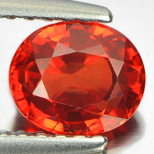 1.04 Ct. Clean Oval Natural Orangish Red Sapphire Gem
