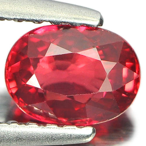 1.04 Ct. Oval Shape 6 x 4.5 Mm. Natural Gemstone Pinkish Red Songea Sapphire