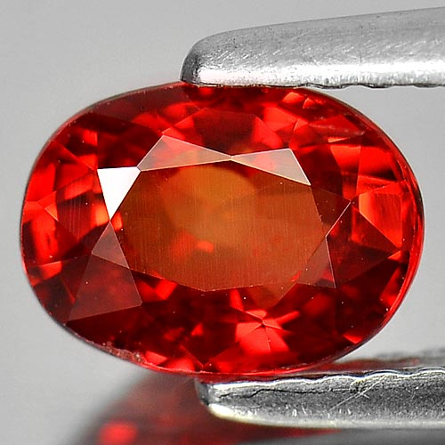 1.37 Ct. Clean Oval Shape Natural Orangish Red Sapphire Gem