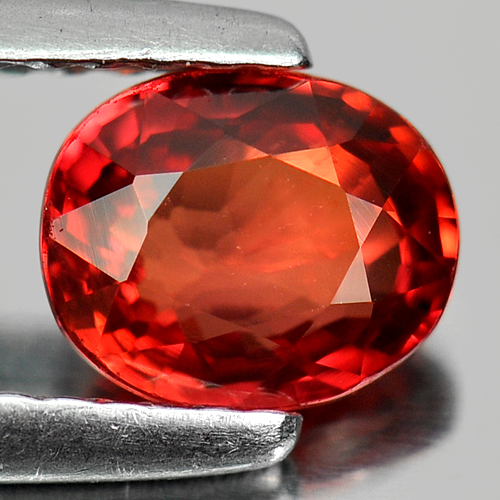 1.02 Ct. Oval Shape Natural Orangish Red Songea Sapphire From Tanzania