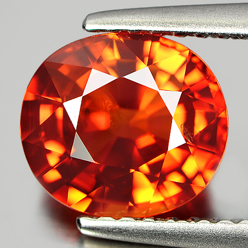 Certified 2.33 ct. Oval Natural Orange Songea Sapphire