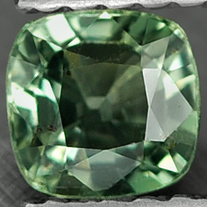 0.63 Ct. Awesome Natural Green Songea Sapphire Tanzania