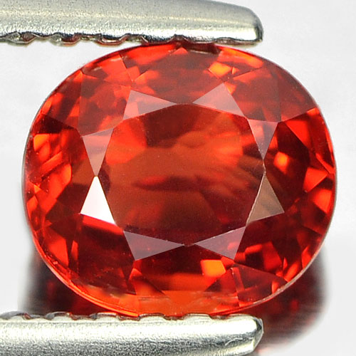 1.03 CT. Clean Oval Natural Orange Red Songea SAPPHIRE