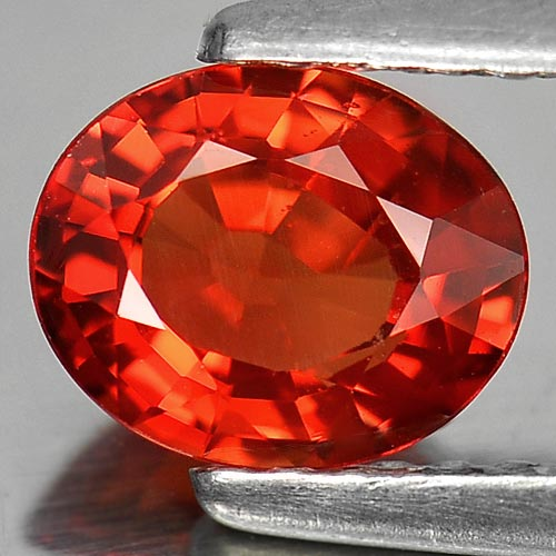 1.00 Ct. Natural Gemstone Clean Orange Red Songea Sapphire From Tanzania
