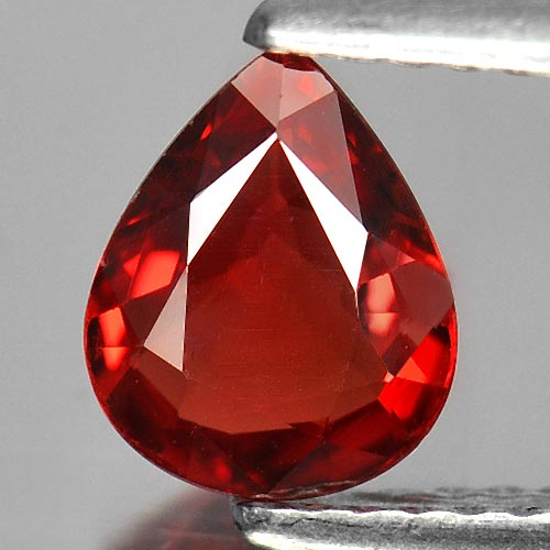 1.00 Ct. Natural Gemstone Clean Red Songea Sapphire Pear Shape 7.2 x 6 Mm.