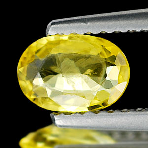 0.62 Ct. Oval Shape Natural Yellow Sapphire Thailand
