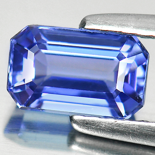 1.19 Ct. Octagon Shape Natural Gem Clean Violetish Blue Tanzanite From Tanzania
