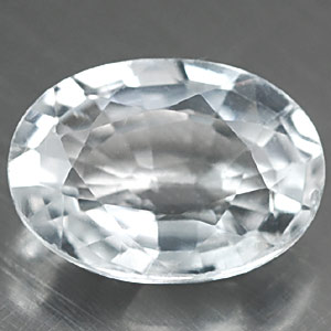 0.95 ct Beautiful Clean Oval Natural White TOPAZ Brazil
