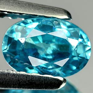 0.82 Ct. Stunning Oval Natural Blue Zircon Cambodia Gem