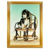 1700.00 Ct. Alluring Baguette Inlaid Gems Artwork Of Dog Seat