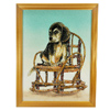 1650.00 Ct. Attractive Baguette Inlaid Gems Artwork Of Dog Seat