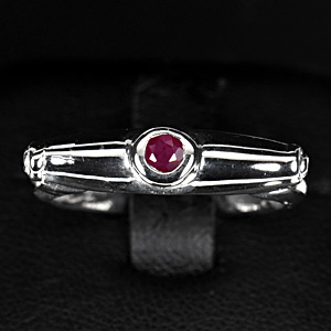 2.55 G. Natural Ruby Silver 925 Ring Jewelry Sz 7