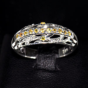 2.95 G Nice Natural Yellow Sapphire Silver Jewelry Ring