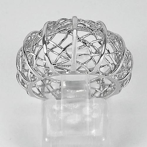 1 Pc. / $ 28.47 Wholesale Natural 925 Sterling Silver Jewelry Ring Size 7