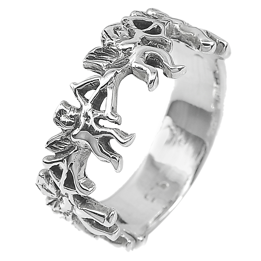 4.54 G. Beautiful Real 925 Sterling Silver Jewelry Ring Size 9