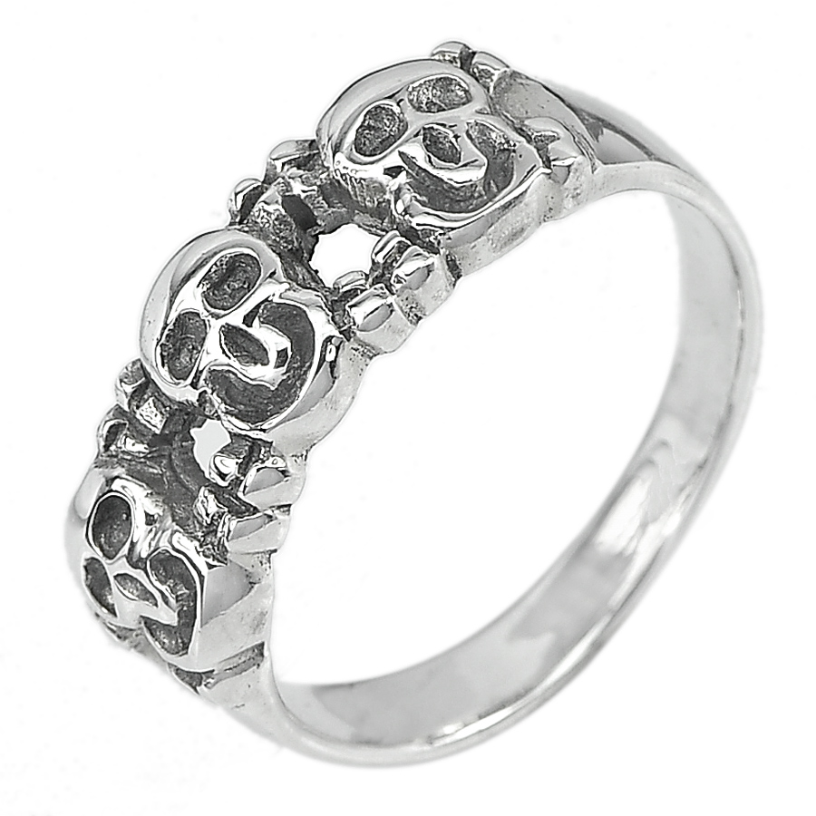 4.54 G. Good Real 925 Sterling Silver Jewelry Ring Size  9