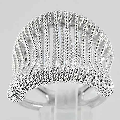 15.03 G. Model Beautiful Real 925 Sterling Silver Fine Jewelry Ring Size 8