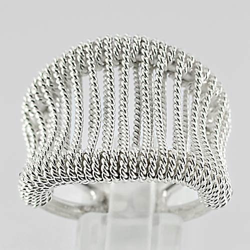 15.28 G. Beauteous 70 Sterling Silver Jewelry Ring Size 8.5