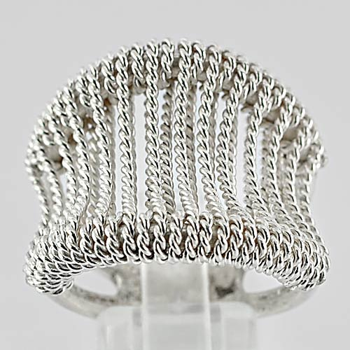 13.66 G. Beauteous 70 Sterling Silver Jewelry Ring Size 8