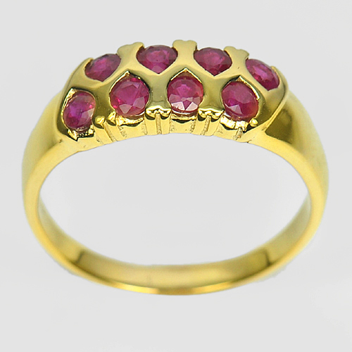 1.03 Ct. Natural Gemstone Red RUBY 14K Solid Gold Ring Jewelry Size 6.5