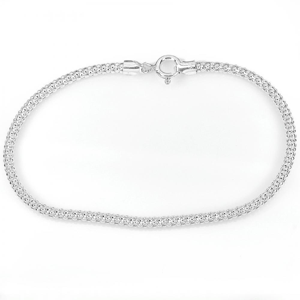 3.35 G. Beautiful Real 925 Sterling Silver Bracelet Jewelry Length 7 Inch.