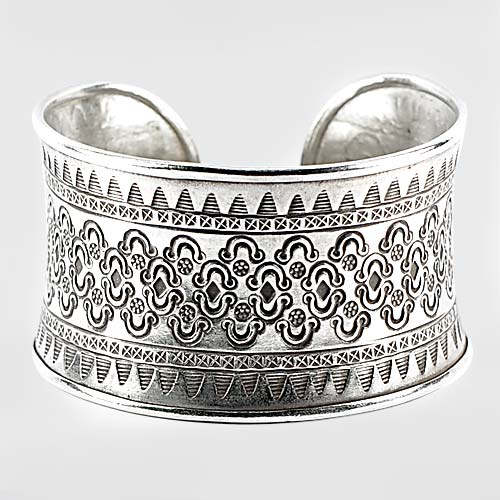 51.34 G. Beautiful Real 70 Percent Sterling Silver Jewelry Adjustable Bangle