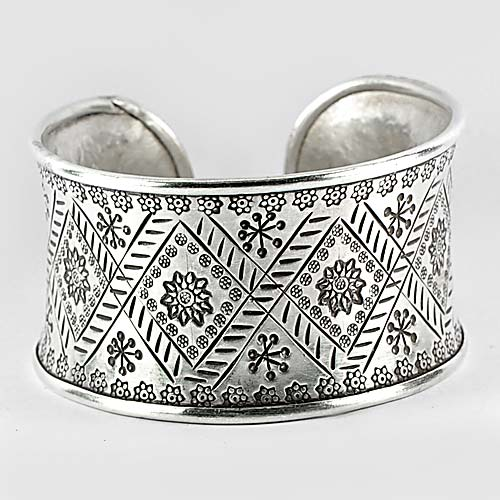 50.13 G. 70 Sterling Silver Karen Fine Jewelry Bangle Size 65 / 60 / 36