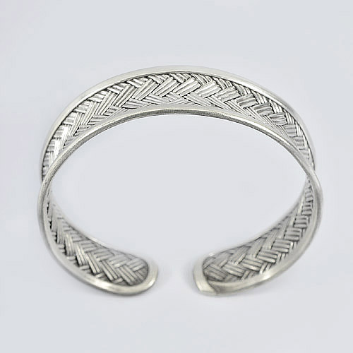 24.50 G.Real 70 Sterling Silver Karen Fine Jewelry Bangle Diameter 60 mm.