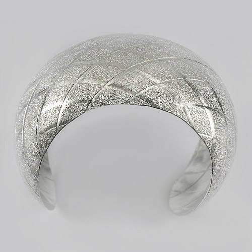 47.90 G. Real 70 Percent Sterling Silver Bangle Jewelry Beautiful Diameter 41 mm