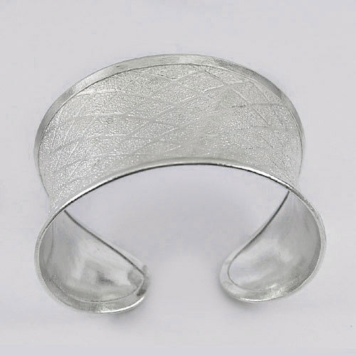 41.20 G. Good Real 70 Sterling Silver Jewelry Adjustable Rhombus Bangle