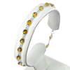 2.06 G.Natural Gems Yellow Citrine 925 Sterling Silver Bracelet Length 7.5 Inch.