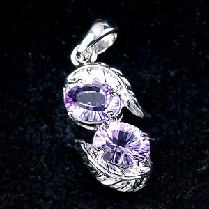 Beauty Concave Cut Amethyst 925 Silver Jewelry Pendent