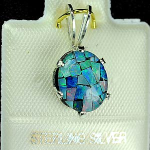New Design Created Opal Multi Color 925 Silver Jewelry Pendent