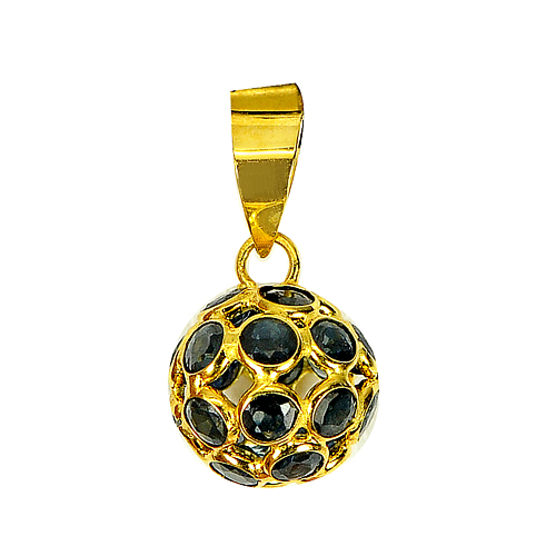 Beauty Gemstone Natural Blue Sapphire 18k Gold Jewelry Pendant