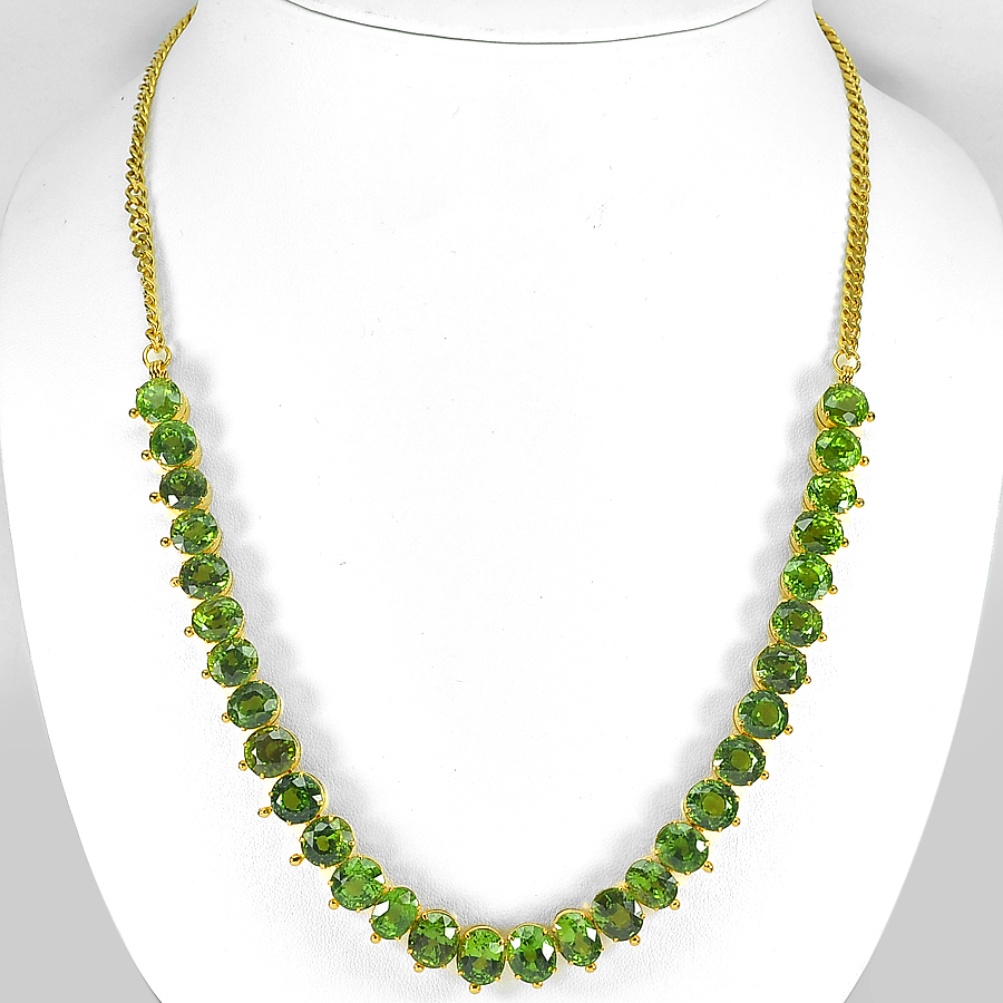 170.45 Ct. Clean Natural Green Peridot Nickel Necklace