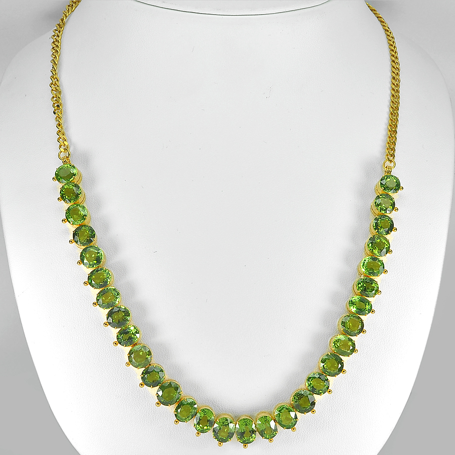 164.00 Ct. Clean Natural Green Peridot Nickel Necklace