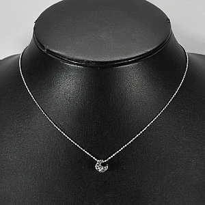 2.33 G. Lovely Fashion Style Nickel Rhodium Plated Necklace Length 15 Inch.