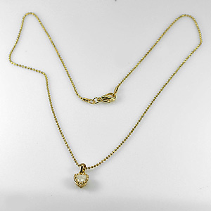2.38 G. Fashion Women Jewelry Nickel Gold Plated Necklace Length 16 Inch.