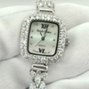 37.63 G.925 Sterling Silver Ladies Wristwatch 7 Inch.Round CZ Luxury for Gift