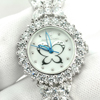 49.02 G. 925 Silver Womens Wristwatch 7.5 Inch. White CZ Beautiful Fashion