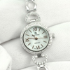 Ladies 925 Sterling Silver Wristwatch 7 Inch. Round CZ Beautiful For Gift